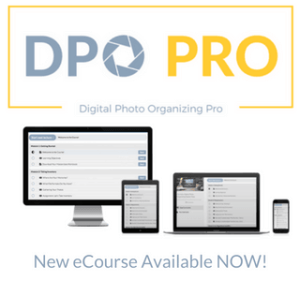 DPO PRO: The Ultimate Photo Organizing Masterclass is available now. This is an on-demand, ecourse that teaches you the right way to organize your digital photos!