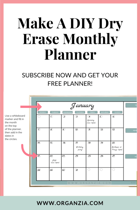DIY Monthly Planner - Make your own