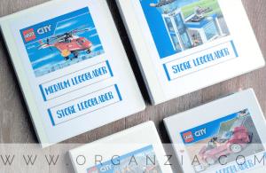Lego instruction manuals organized