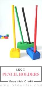 DIY Lego pencil holders