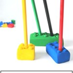 How to make Lego pencil holders, easy craft for kids