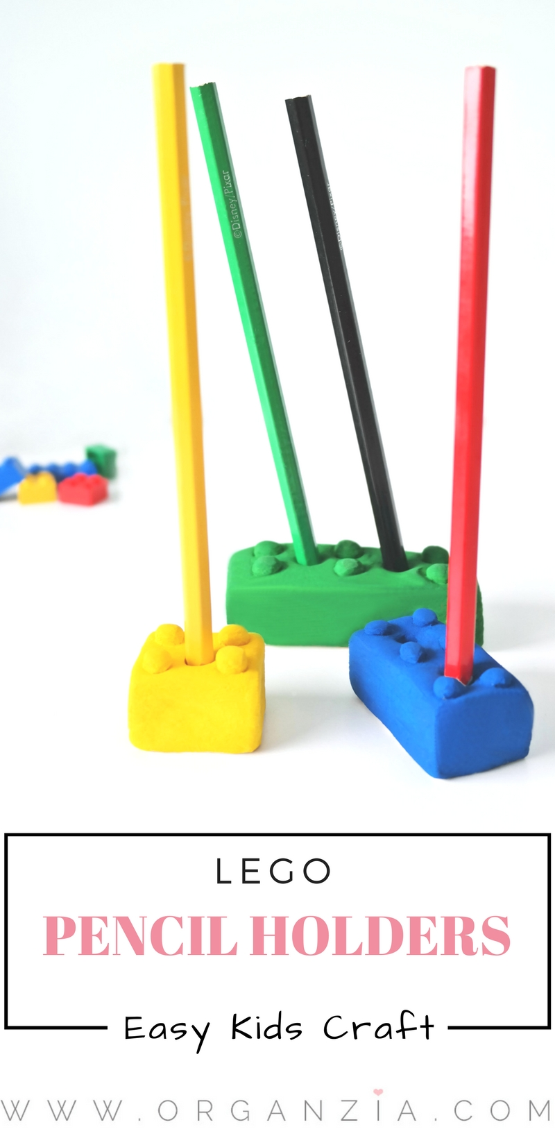 Kids craft - Lego pencil holders