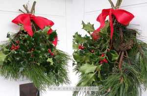 DIY Christmas swag wreath