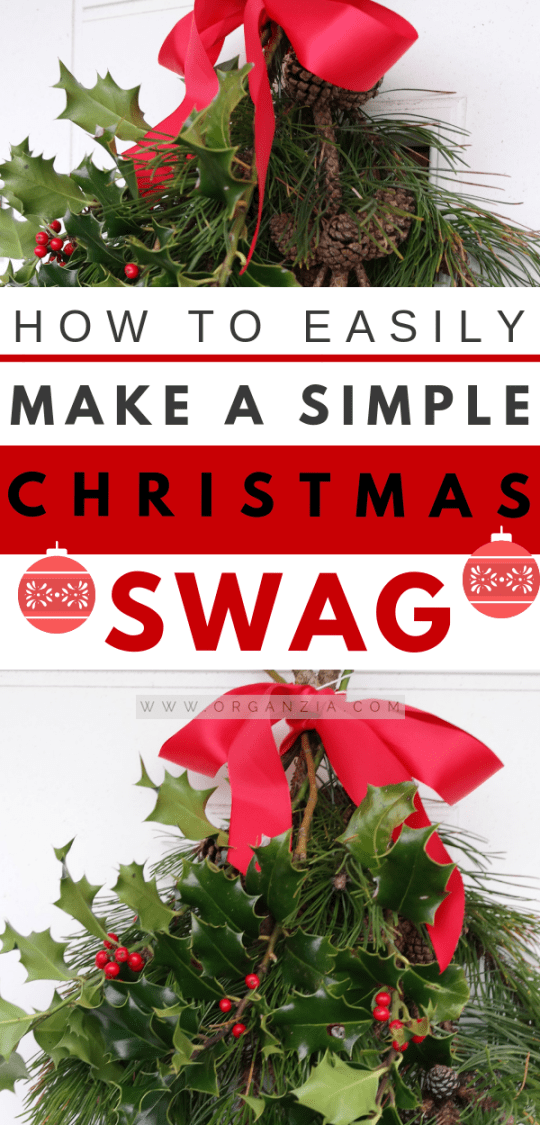 DIY Christmas Swag - Easy and fast project