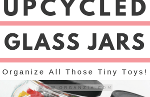 Upcycled glass jars - For storing kids supplies