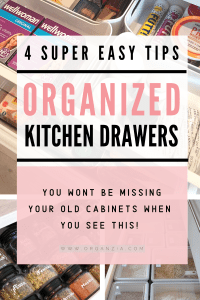 Organize kitchen drawers using these 4 easy tips