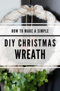 Make an easy DIY Christmas Wreath tutorial