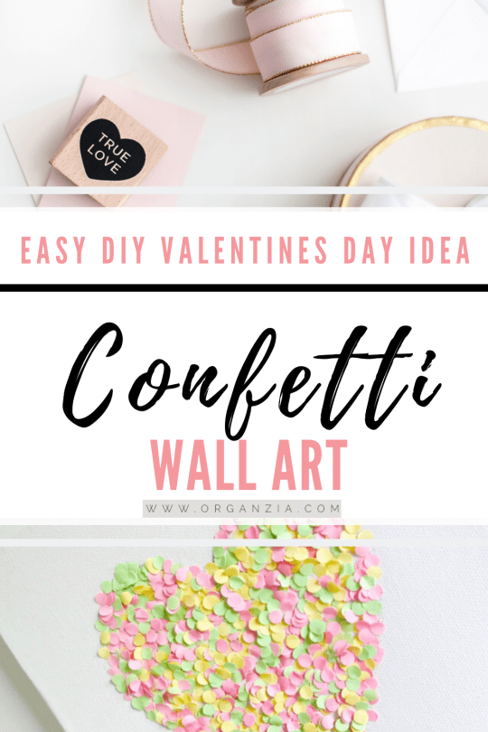 DIY Confetti Wall Art - Easy DIY tutorial