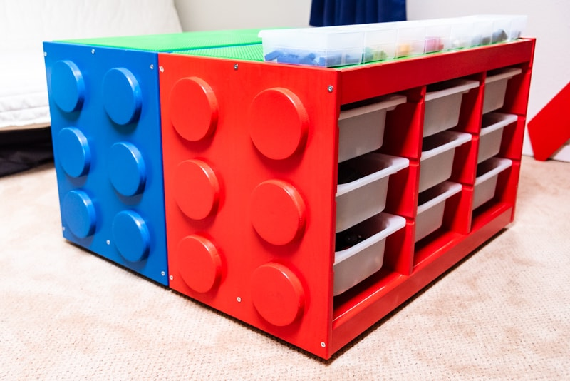 Make a Lego table with lots of storage