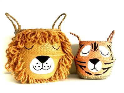 Toy storage - lion baskets