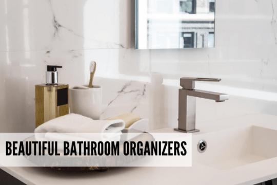 Bathroom counter organizer ideas