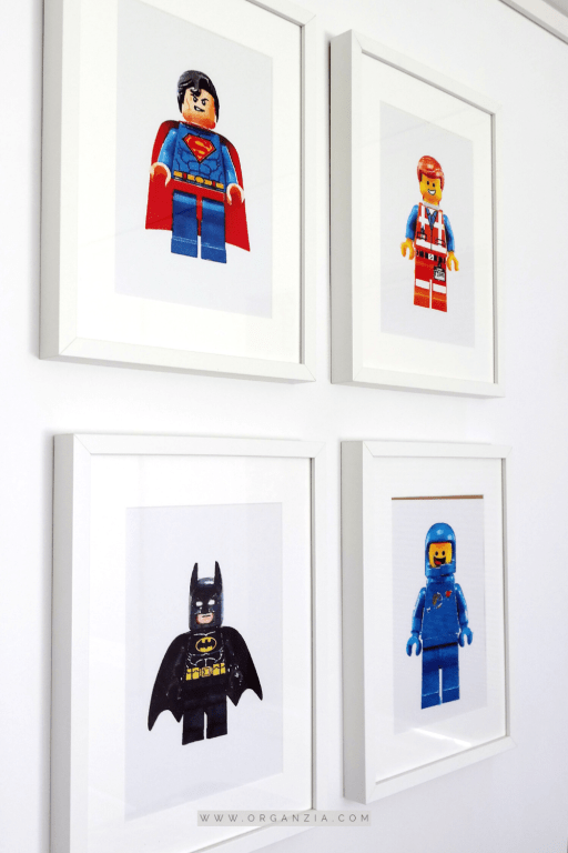 Wall in lego 4 piece art