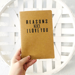 Gift idea for Valentine - notebook