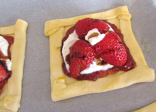 strawberry tart ready to be baked