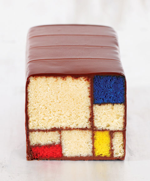 Cake in the Mondrian Style by Leah Rosenberg