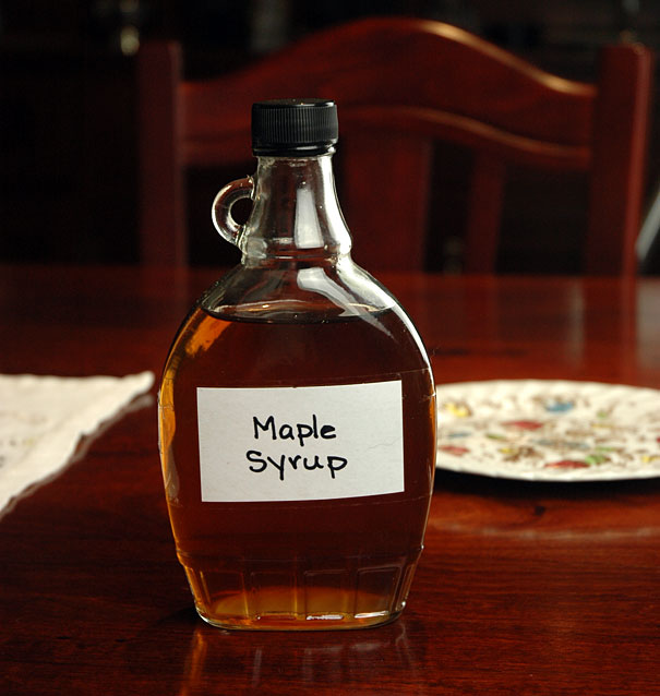 home made maple syrup