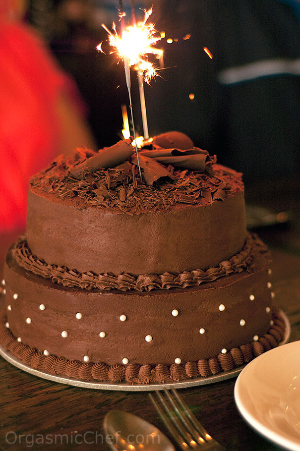 Two Tier Chocolate Birthday Cake