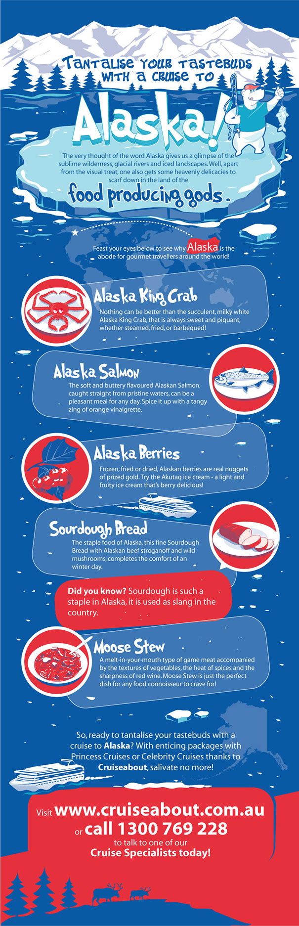 Tantalise your taste buds with a Cruise to Alaska