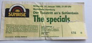 specials hamburg ticket from 1980