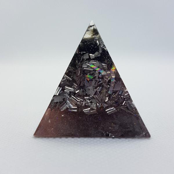 Moon Dust Moon Dust Obsidian Orgone Orgonite Pyramid 4cm 1