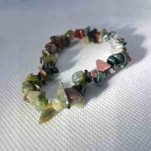 Earthy Multi Crystal Chip Bracelet