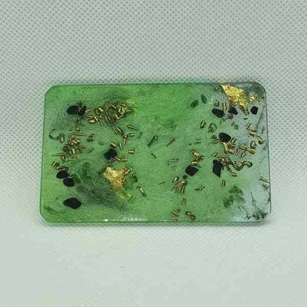 Green Mind Meld Orgone Orgonite Card