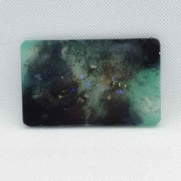 Orgone Card for EMF and RF protection - Labradorite, Peridot, Clear Quartz, Brass for protection on the go for you!