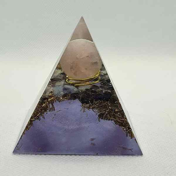 Reflections of Another Time Orgone Orgonite Pyramid 6cm 5