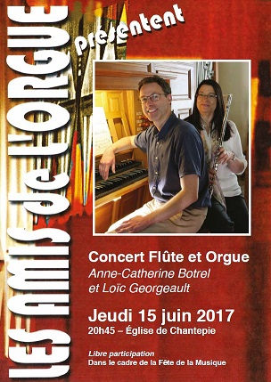 Affiche du concert flûte et orgue