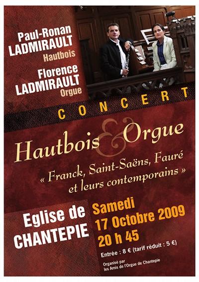Affiche du concert du 17 octobre 2009
