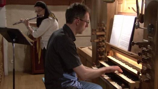 Anne-Catherine Leissen-Botrel (flûte) et Loïc Georgeault (orgue)