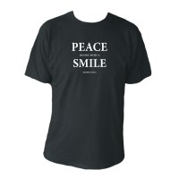 Peace begins with a smile, svart