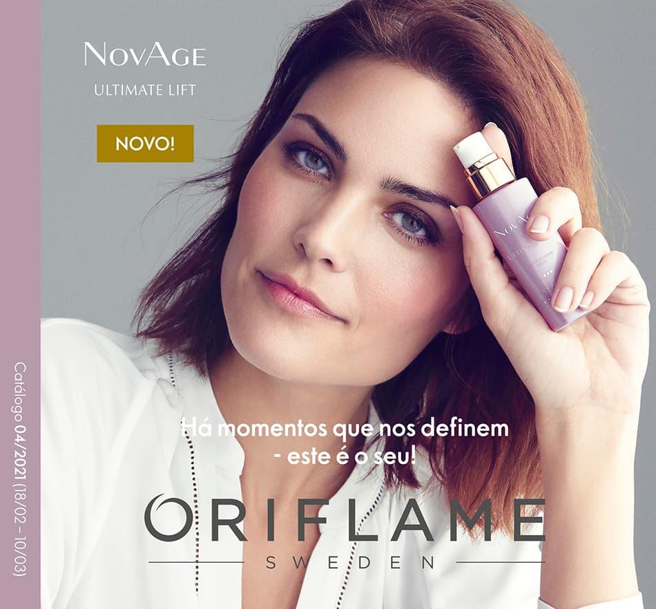 Capa do Catálogo 4 de 2021 da Oriflame