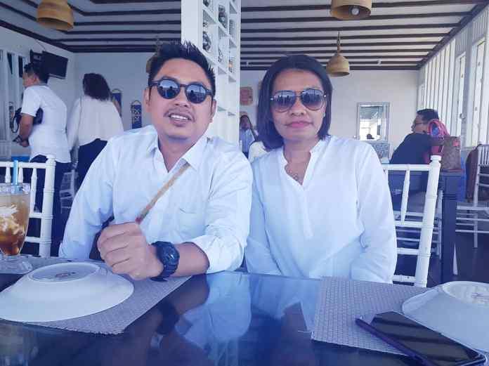Calon Ketum BPP HIPMI, Mardani H Maming (kiri) dan Ketua BPD HIPMI, Adriana Imelda Daat (kanan).