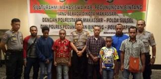 Polisi Jamin Keamanan Mahasiswa Papua di Makassar. Foto:IST