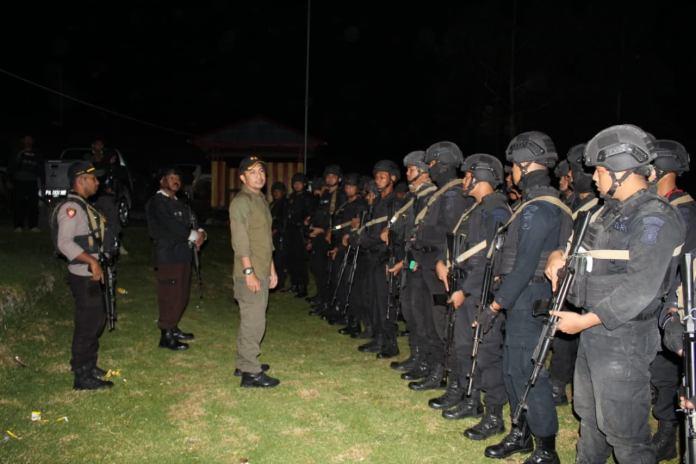 60 Personil BKO Brimob Polda Jambi Tiba di Lanny Jaya. Foto: IST