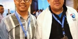Sekretaris DPW Partai Gelora Indonesia, Rifandi ketika berproses bersama Wakil Ketua Umum Partai Gelora Indonesia, Fahri Hamzah.