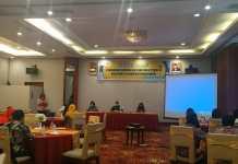 Workshop penguatan Pelayanan KIA pada Masa Covid-19 Bagi bidan di kabupaten Manokwari, Jum'at 22 April 2020 di salah satu hotel di Manokwari. Foto: IST