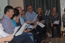 Máire Ní Choilm, Brian Ó Domhnaill, Edel Ní Churroin, Róisín White Oriel song workshop 2016