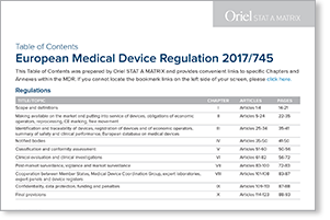 EU MDR Table Of Contents Full Text Of Regulation 2017745