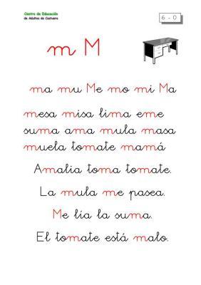 METODO DE Lectoescritura letra M
