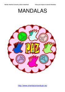 imagen en color mandala de la paz