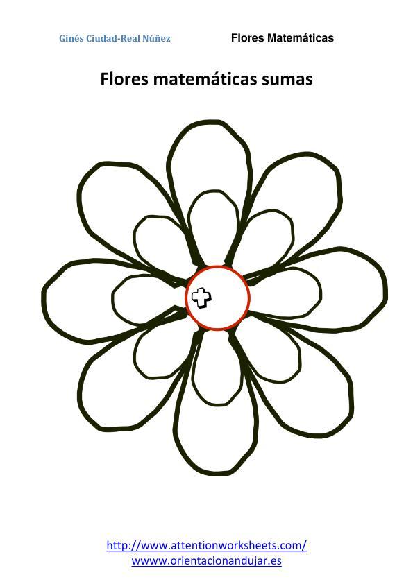 matemáticas primaria flores matematicas sumas nivel inicial plantilla