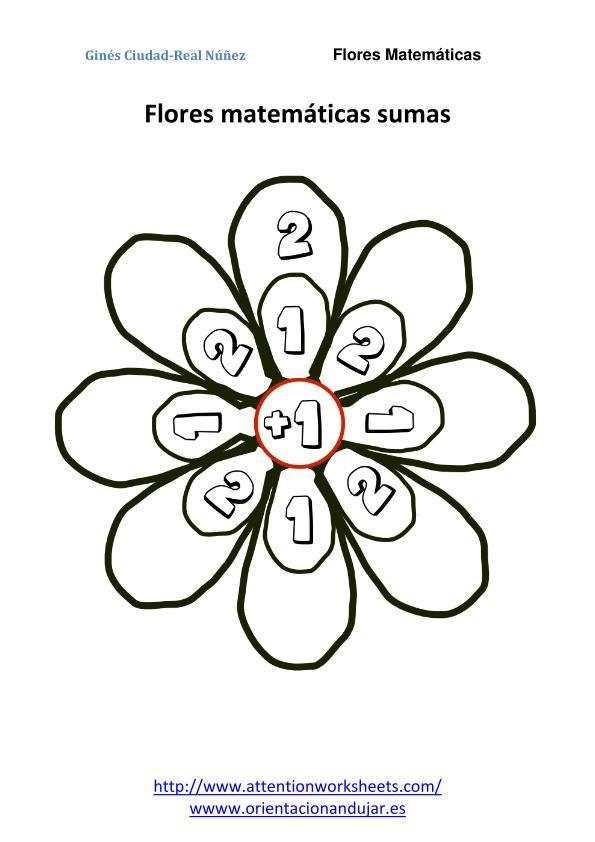 matemáticas primaria flores matematicas sumas nivel inicial 2