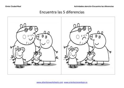 Encuentra Las Diferencias Y Colorea Para Niños Orientacion