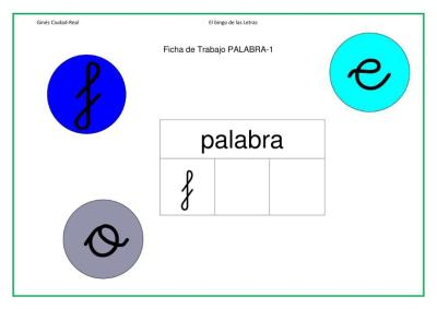 lectoescritura letra f