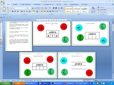 lectoescritura bingo editable