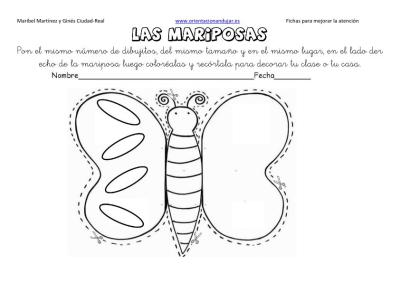 lateralidad y recortar mariposas 8