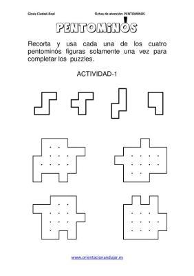 PENTOMINOS cuatro  PIEZAS NIVEL INICIAL en imagenes_01