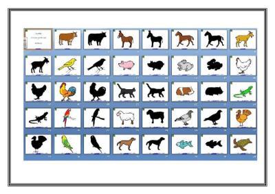 PRESENTACION POWER SILUETAS ANIMALES DOMESTICOS Y DE GRANJA IMAGEN